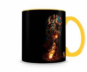 Caneca World Of Warcraft Varian II Amarela