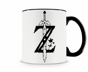 Caneca Legend Of Zelda Esp Preta