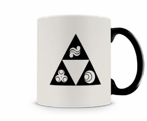 Caneca Mágica Legend Of Zelda Triforce