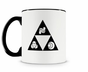Caneca Legend Of Zelda Triforce Preta