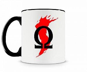 Caneca God Of War Logo 2 Preta