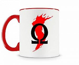Caneca God Of War Logo 2 Vermelha