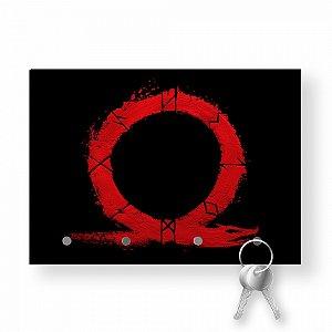 Porta Chaves Com Imã God Of War Logo Vermelho