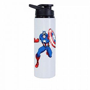 Squeeze Branco Marvel Capitão América