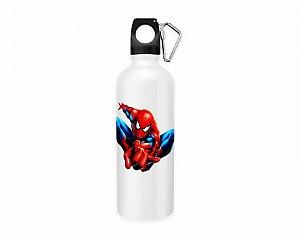 Squeeze aluminio branco Marvel Homem Aranha