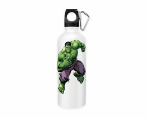 Squeeze aluminio branco Marvel Hulk