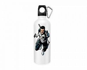 Squeeze aluminio branco Marvel Justiceiro