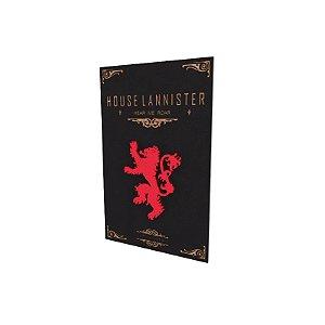 Quadro relevo Game of Thrones Lannister