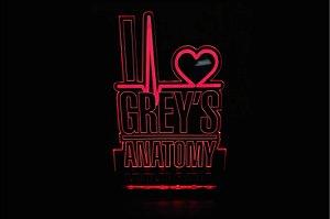 Luminária Acrílico Greys Anatomy I love