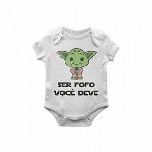 Body Bebê Star Wars Yoda fofo TAM G
