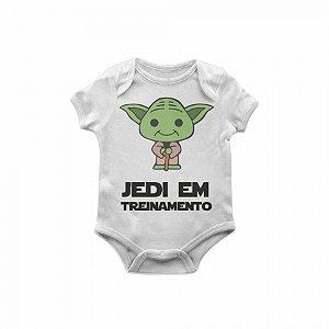 Body Bebê Star Wars Yoda jedi em treinamento TAM M