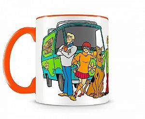 Caneca Scooby Doo Máquina de Mistério Laranja