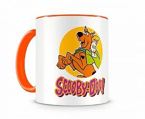 Caneca Scooby Doo e Salsicha Laranja