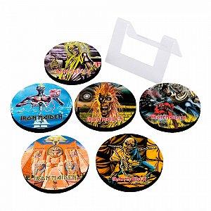 Porta Copos Em MDF Iron Maiden Albums