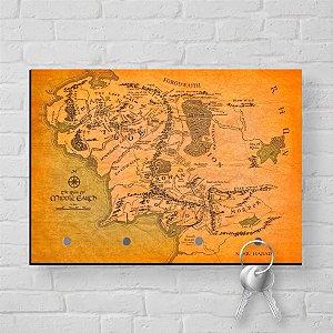 Porta Chaves Com Imã Senhor dos Anéis Mapa Terra Média