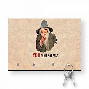 Porta Chaves Com Imã Senhor dos Anéis You Shall Not Pass