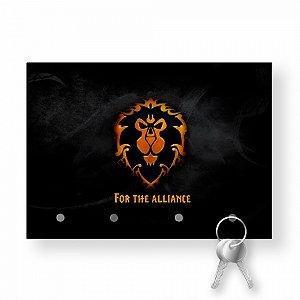 Porta Chaves Com Imã World Of Warcraft Aliança