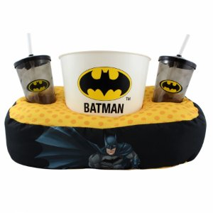 Kit almofada pipoca fibra Batman almofada