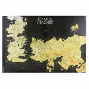 Quadro Canvas Mapa Westeros Game of Thrones - 70x50cm