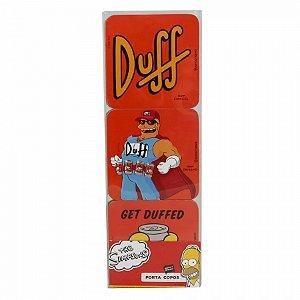 Jogo Porta Copos Duff Beer