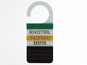 Aviso de Porta relevo Rivo - MDF 10x21cm