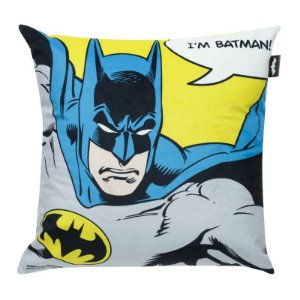 Capa Almofada Poliester Wb Dc Or I Am Batman Azul/Amarelo