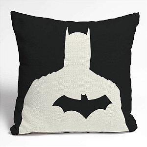 Capa Almofada Poliester Batman Shadow Cinza e Preto