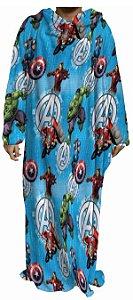 Cobertor com mangas Avengers 1,60x1,30M