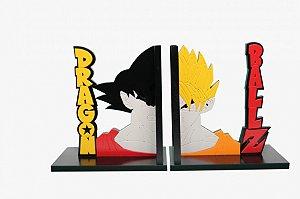 Aparador de livros Relevo Dragon Ball Z Goku Saiyajin MDF
