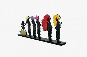 Adorno Relevo Dragon Ball Evolução Super Saiyajin 15,5x40cm