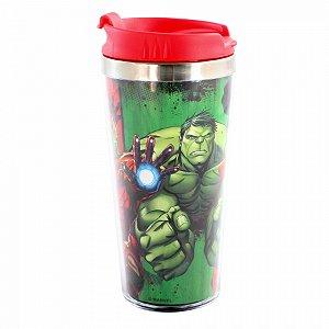 Copo Viagem Avengers com tampa 450ml