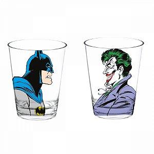 Set 2 pcs copo vidro Batman x Joker 300ml