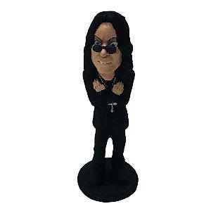 Boneco Ozzy Osbourne em resina 30cm