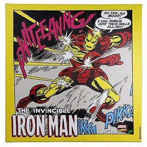 Quadro Canvas Iron Man Ação 40x40