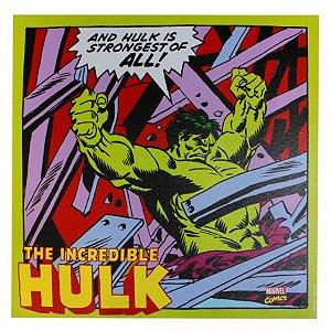 Quadro Canvas Hulk Ação 40x40