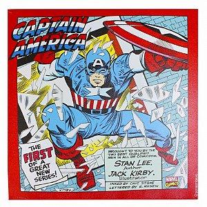 Quadro Canvas Capitão América Ação 40x40