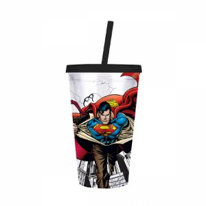Copo canudo Superman transformation 500ML