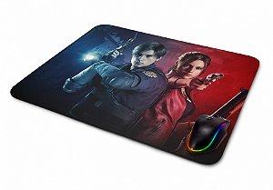 Mousepad Gamer Resident Evil 2 Claire e Leon