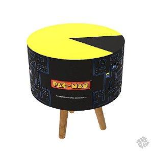 Pufe formato Pac Man com pés