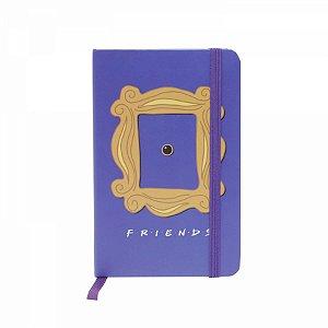 Caderneta De Anotação Friends Moldura roxo A6