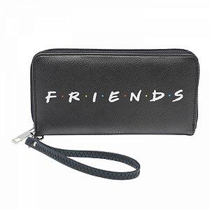 Carteira com zíper Friends preto