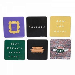 Set 6 Porta Copos Friends cenario