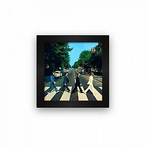 Quadro azulejo com moldura Beatles Abbey Road