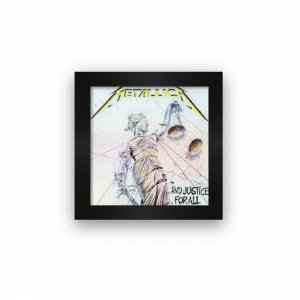 Quadro azulejo com moldura Metallica And Justice For All