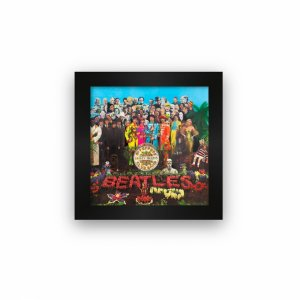 Quadro azulejo com moldura Beatles Sgt Peppers