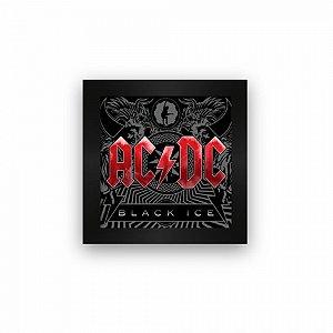Quadro azulejo com moldura AC DC Black Ice