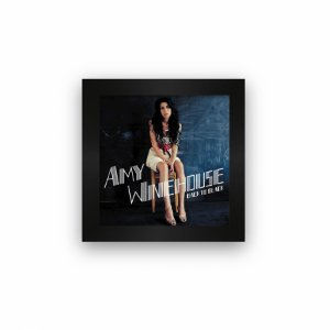 Quadro azulejo com moldura Amy Winehouse Black To Black