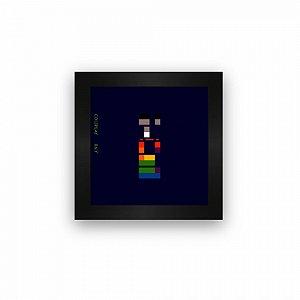 Quadro azulejo com moldura Coldplay X&Y