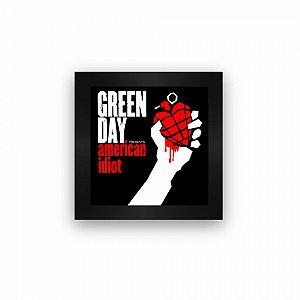Quadro azulejo com moldura Green Day American Idiot