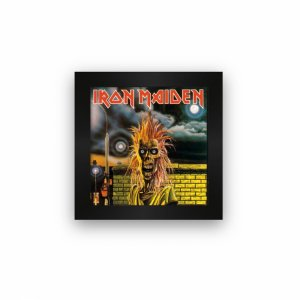 Quadro azulejo com moldura Iron Maiden Album